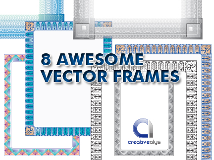 8 Awesome Frames in Vector