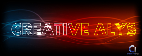 Glowing Light Text Vector Effect