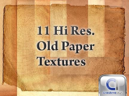 11 Old Paper Hi Res Textures