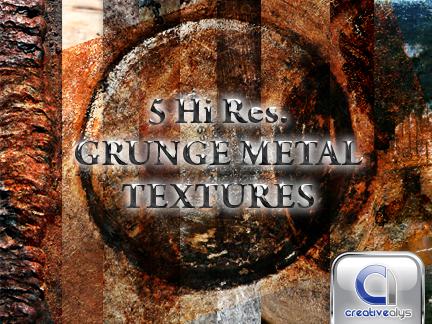 5 Grunge Metal Textures
