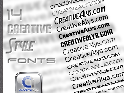 14 Creative Style Fonts