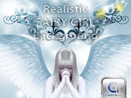 Realistic Fairy Girl Creative Background